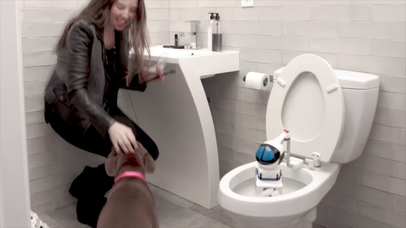 Giddel Toilet Cleaning Robot has Collision Avoidance Technology making Giddel Safe for Kids Pets