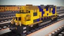 Minecraft BNSF Santa Fe EMD GP35 Locomotive Tutorial