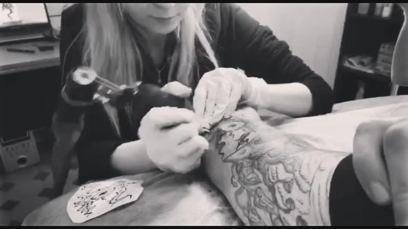 VVitch Ink/ Tattoo in progress/ Foga