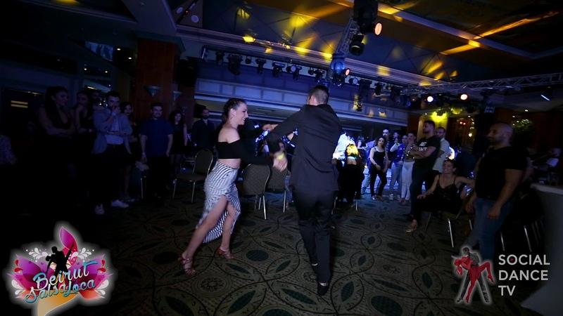 Panagiotis Aglamisis Ana García - Salsa social dancing | Beirut Salsa Loca 2018