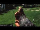 Sharon Tate bathing Patty Duke's dog Shadrack at Summitridge Drive #2 (1968)