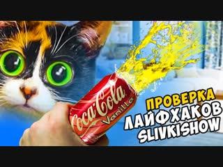 Дима Масленников 3 ЛАЙФХАКА от SLIVKI SHOW - КОЛА ПУШКА проверка лайфхаков (1)