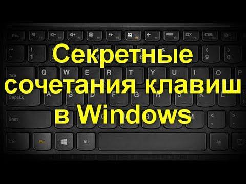 Полный список комбинаций клавиш на клавиатуре в системе Windows