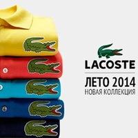 Летний маркет футболок поло LACOSTE