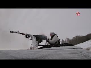 Пикапы на снегу и огонь «градов» кадры учений мотострелков под оренбургом