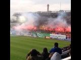 Пирошоу фанатов ЦСКА на матче против Зенита