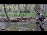 Mountain stream by flip cast