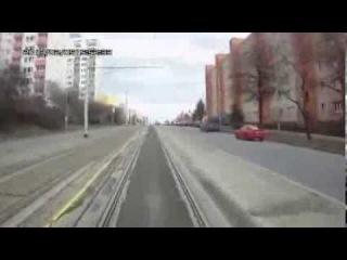 Удивительный Чешский Трамвай с регистратором!Это надо видеть!!!