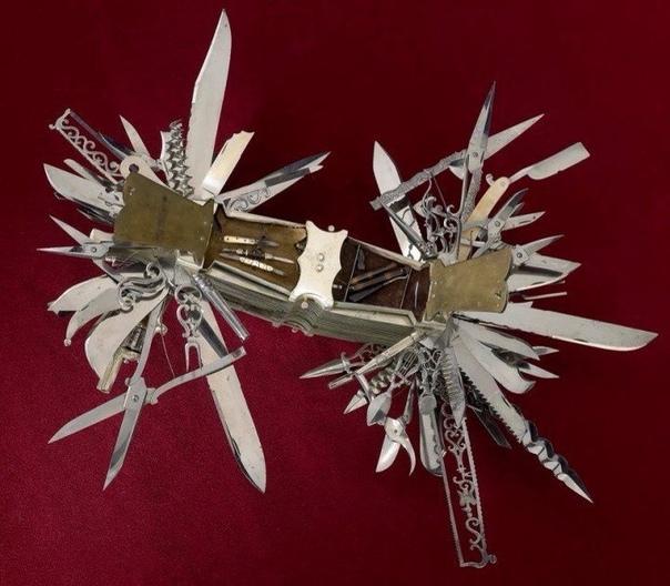 Мать швейцарских складных ножей. Самый первый складной армейский нож в мире, Германия 1880 г.Этот складной нож был произведенв 1880 году фирмой Holler & Co в Германии специально для одного из