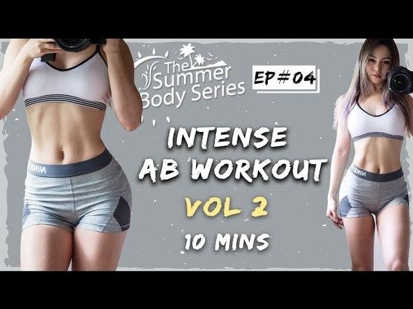 10 Min Intense Ab Workout | Flat Tummy Exercises Routine