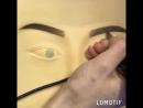 Обучение татуажу.Отработка на латексе