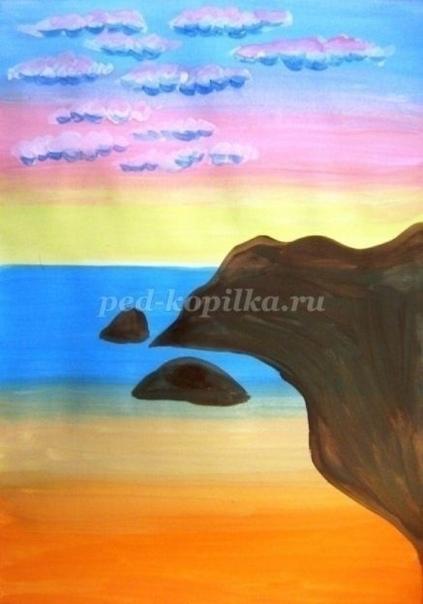Рисуем морской пейзаж Автор: Дьякова Ольга Сергеевна