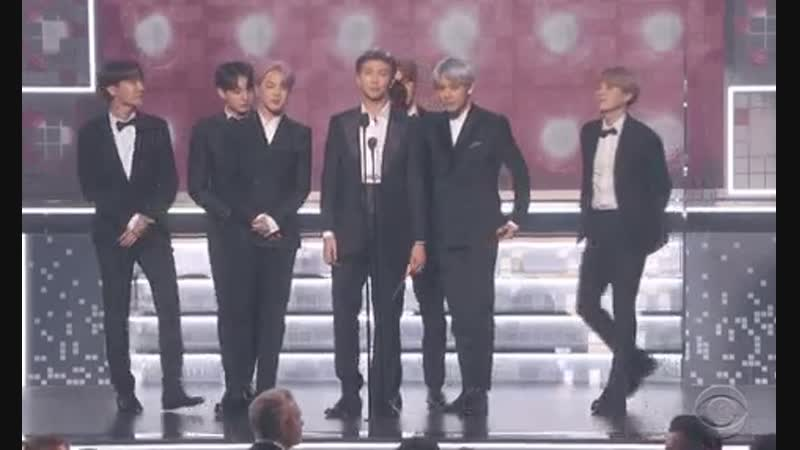 Global sensation @BTS_twt makes their first appearance on the GRAMMYs stage