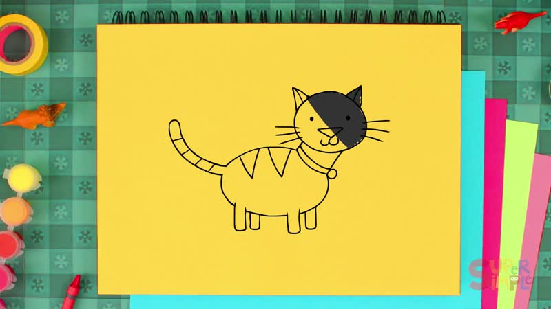 How to Draw A Cat Easy Drawing Lesson for Kids Step By Step
