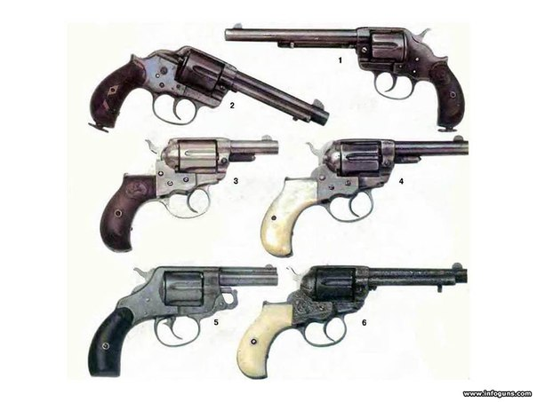 первый револьвер 1884 года