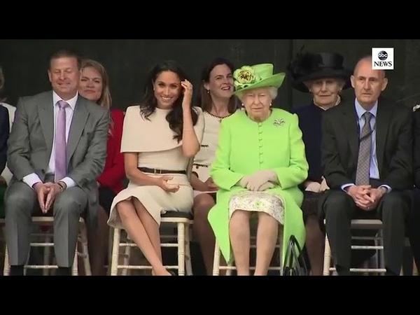 Первое сольное мероприятие Меган Маркл и королевы Елизаветы Четверг 14 июня 2018 года