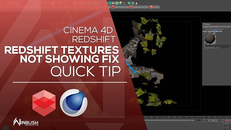 CINEMA 4D REDSHIFT - Fixing Redshift black textures in the viewport