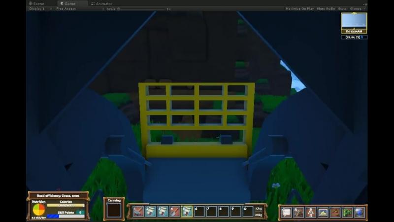 Малый бульдозер на ранней стадии разработки в Eco Global Survival Game.