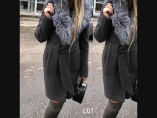 Пальто зима с чернобуркой
