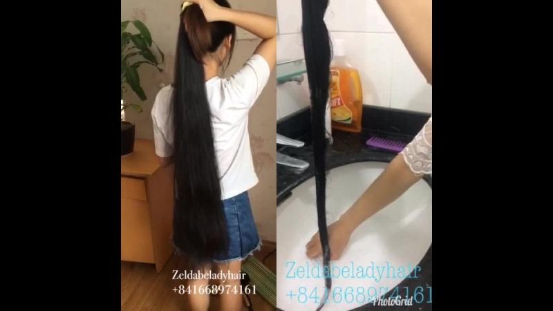 После мытья волос - нет путаницы, без пролития