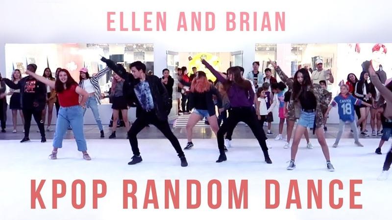 KPOP Random Play Dance in Los Angeles | Ellen and Brian