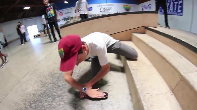 [Braille Skateboarding] ENTIRE BRAILLE TEAM VS. HANDBOARD