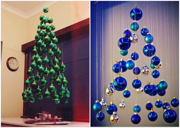15 идей для творческой новогодней елки! Часть 1 Каждый год мы достаем с дальней полки одну и ту же елку или покупаем живую и украшаем уже до боли знакомыми игрушками и гирляндами. Пора что-то менять!