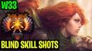 BLIND SKILL SHOTS W33 WINDRANGER Dota 2
