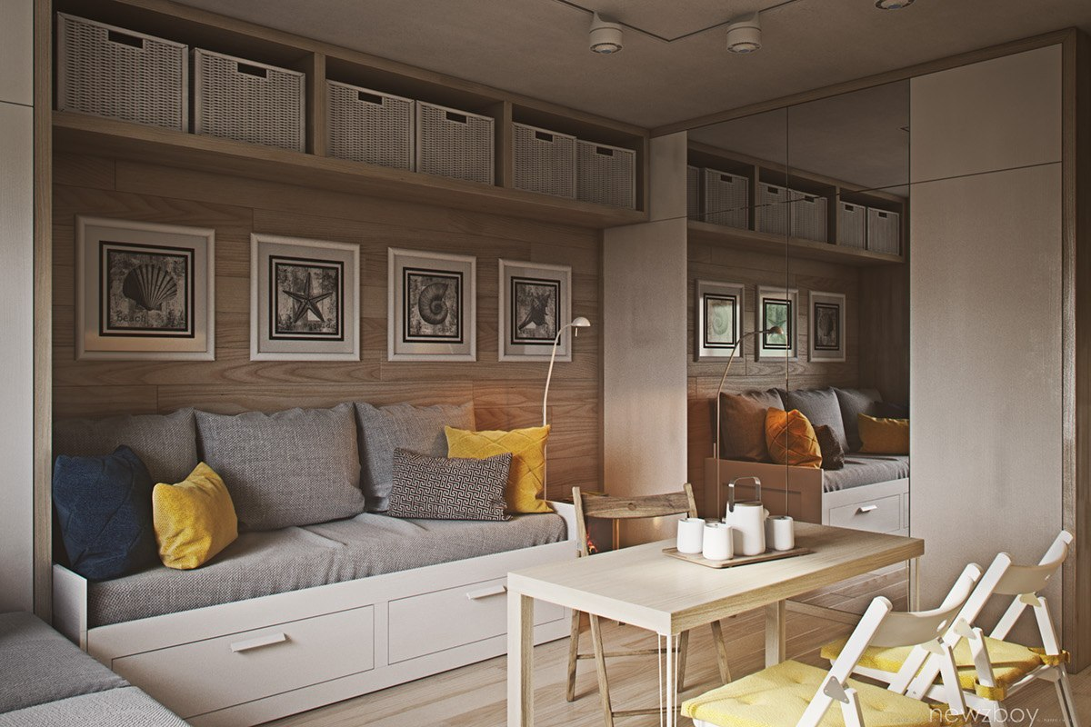 Проект небольшой квартиры-студии