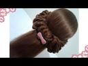 Peinados recogidos faciles para cabello largo bonitos y rapidos con trenzas para niña y fiestas722