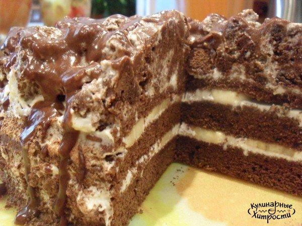 Торт шоколадно банановый рецепт