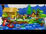 Строим из Lego Duplo, Build and Play toys Lego, Лего Дупло - house on the river