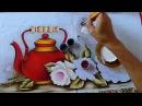 Pintando Chaleira Vermelha com Rosas Part 2 Ivanice Isabel
