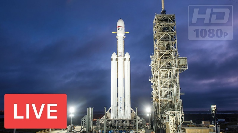 WATCH NOW: SpaceX to Launch Falcon Heavy Rocket Nasa @Kennedy Space Center, 5:35pm