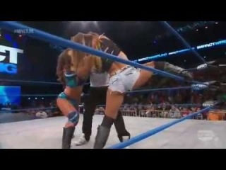 Miss Tessmacher vs Mickie James  #1 Contender's Match Impact 18 04 2013