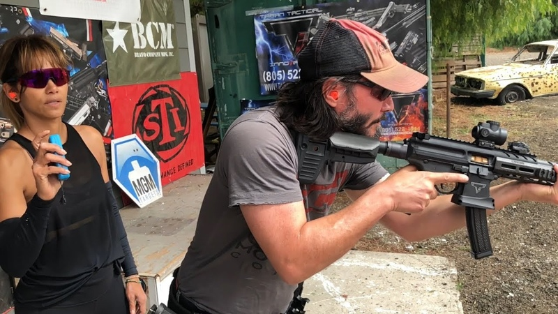 Keanu Reeves Training with Taran and Jade for John Wick: Chapter 3 - Parabellum