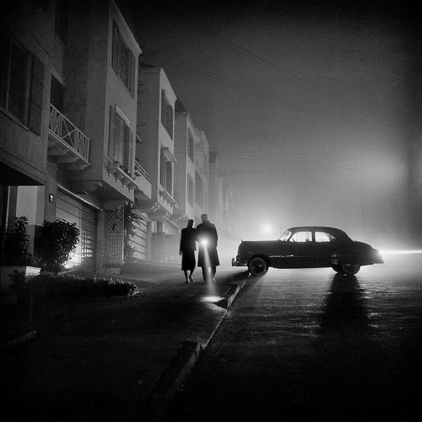 Фото: Сан-Франциско ночью, 1953 год.