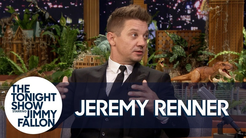 Jeremy Renner Broke His Arms Surfing a Stack of Chairs and Kept Filming