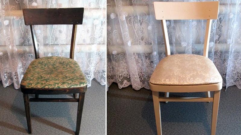 Превращаем старый стул в новый. Декор своими руками