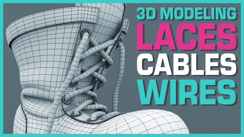 Maya Hard Surface Basics 3D Modeling Laces, Cables and Wires