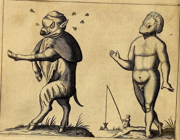 Серия иллюстраций из книги Фортунио Личети «Монстры» 1665 г.