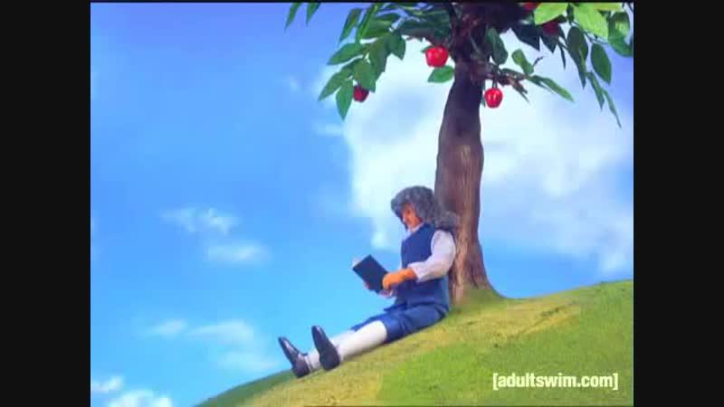Isaac Newtons First Reaction l Robot Chicken l Adult Swim