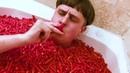 Oliver Tree Movement Hot Cheetos Bath Challenge