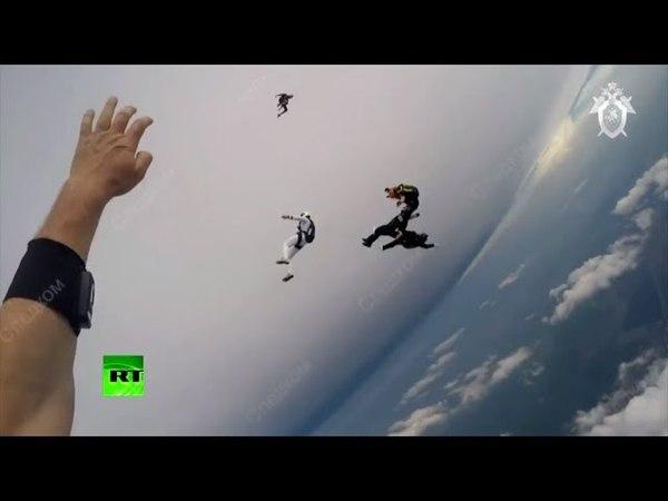 СК опубликовал видео падения парашютистов в Татарстане
