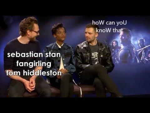 Sebastian stan fangirling tom hiddleston for 2 minutes straight