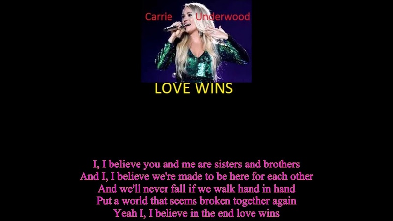 US New Songs- Love Wins- Carrie Underwood [Lyric]