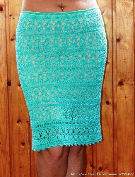 Схема вязания юбки крючком для