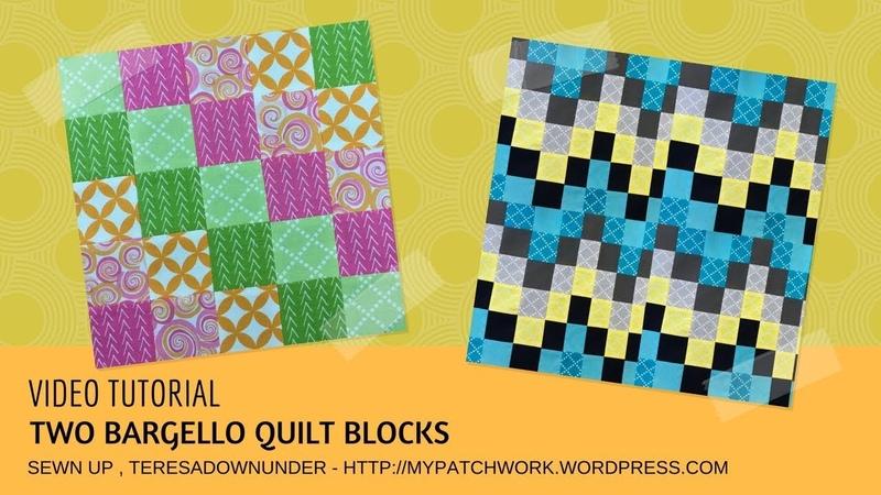 Video tutorial: 2 bargello quilt blocks - tube quilting