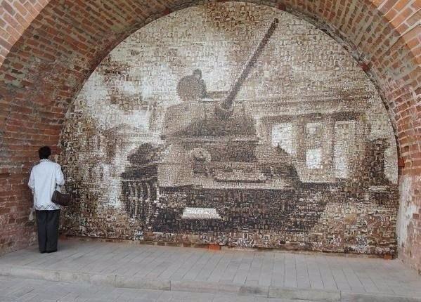 Изображение сделанное из 15 тысяч фотографий времен Великой Отечественной войны