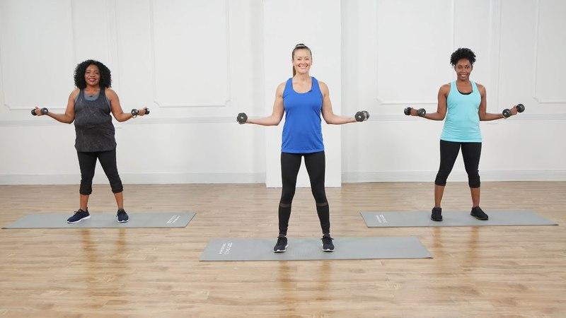 10-минутная тренировка на тонус рук с гантелями. 10-Minute Arm-Toning Workout With Weights